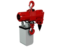 Lufttalje med høy løftehastighet og hus av støpt stål — Red Rooster.