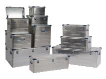 Aluminiumskasse stablingsbar med tilbehør
