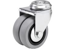 Dobbelhjul DA20 TPE–P grå gummibane Swede–Wheel