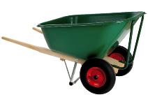 Avfallsvogn/trillebår med plastkurv