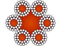 Gigant stållina 144–trådig galvaniserad