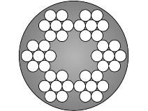 Gigant stållina 42–trådig galvaniserad/PVC