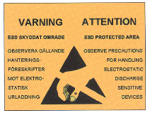 Gigant varningsskylt ESD