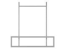 Gigant påbyggnadsenhet Arbetsbord Stabile 500/750 2 pelare