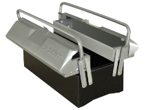 Gigant verktøykasse sølv/svart lakk