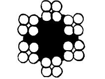Ståltau 24–trådet, galvanisert Gunnebo Lifting