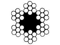 Ståltau 42–trådet, galvanisert Gunnebo Lifting