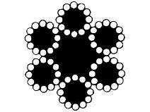 Ståltau 72–trådet, galvanisert Gunnebo Lifting