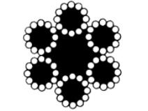 Ståltau 72–trådet, rustfri Gunnebo Lifting