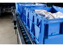 Transportlåda av PP blå Schoeller Allibert