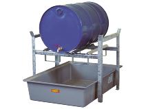 Miljøhylle for 200 liters fat
