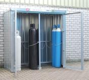 Oppbevaring for gassflasker