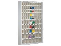 Oppbevaringsboksenhet glassklar høyde 2000 mm 86 bokser