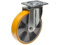 Styrehjul type 8P PU/AL stålbøyle støpt PU–bane Swede–Wheel