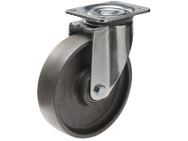 Styrehjul type 8P CI stålbøyle støpejern Swede–Wheel