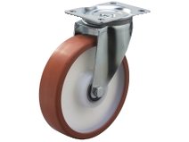 Styrehjul type 4P TPU/PA6 stålbøyle TPU–bane Swede–Wheel