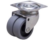 Dobbelhjul DA2P TPE–P grå gummibane Swede–Wheel