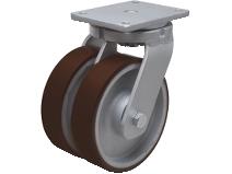 Dobbelhjul type D30P PU/CI stålbøyle støpt PU–bane Swede–Wheel