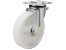 Styrehjul type 5P PA6 stålbøyle nylon Swede–Wheel